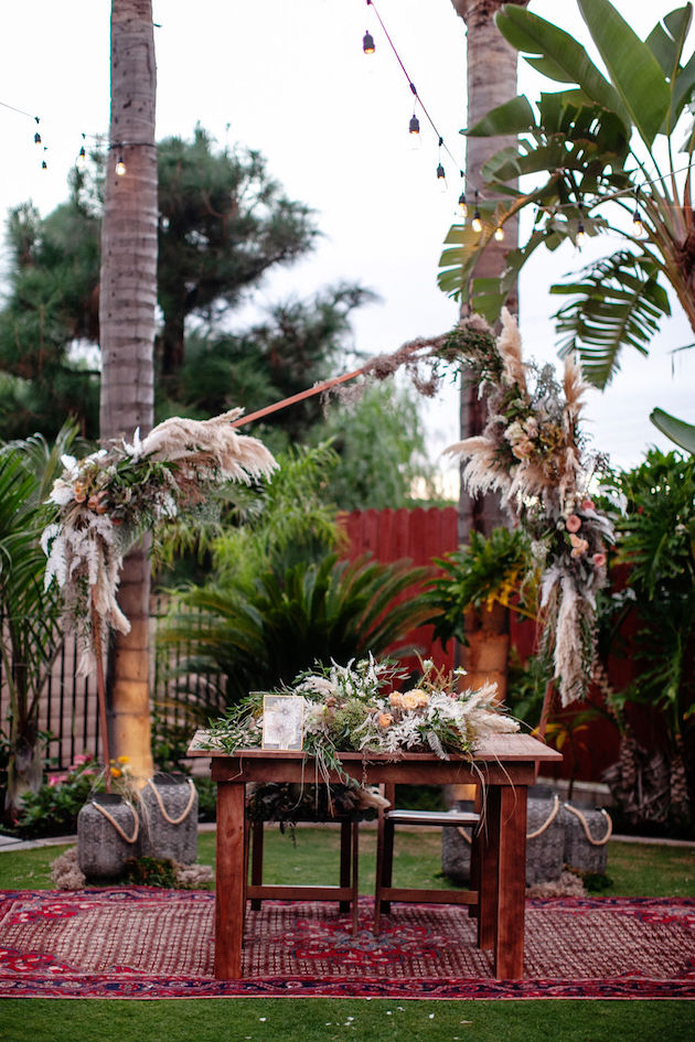 Beautiful Backyard Boho Wedding